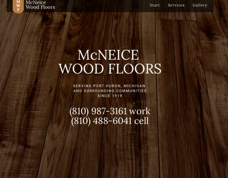 McNeice Wood Floors Website