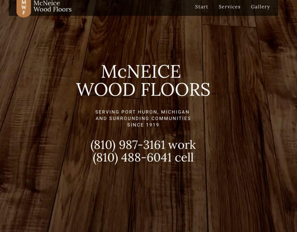 McNeice Wood Floors Website