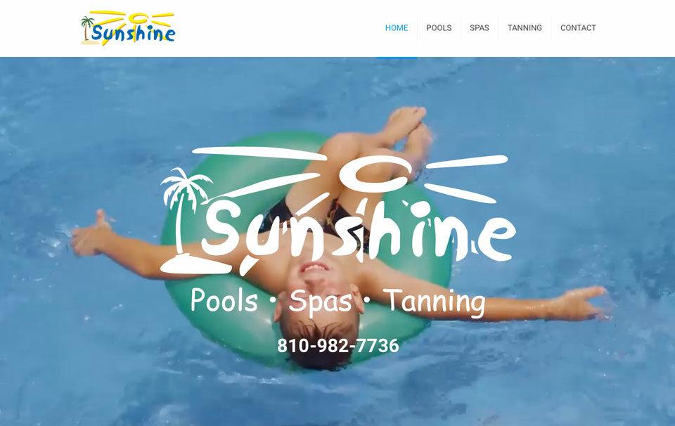 Sunshine Pools Website